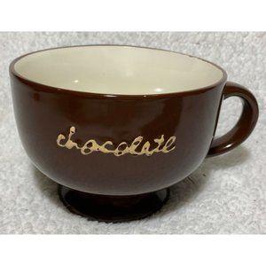 "HARBOR EAST 40 oz Chocolate Mug Bowl Candy Dish ""L"
